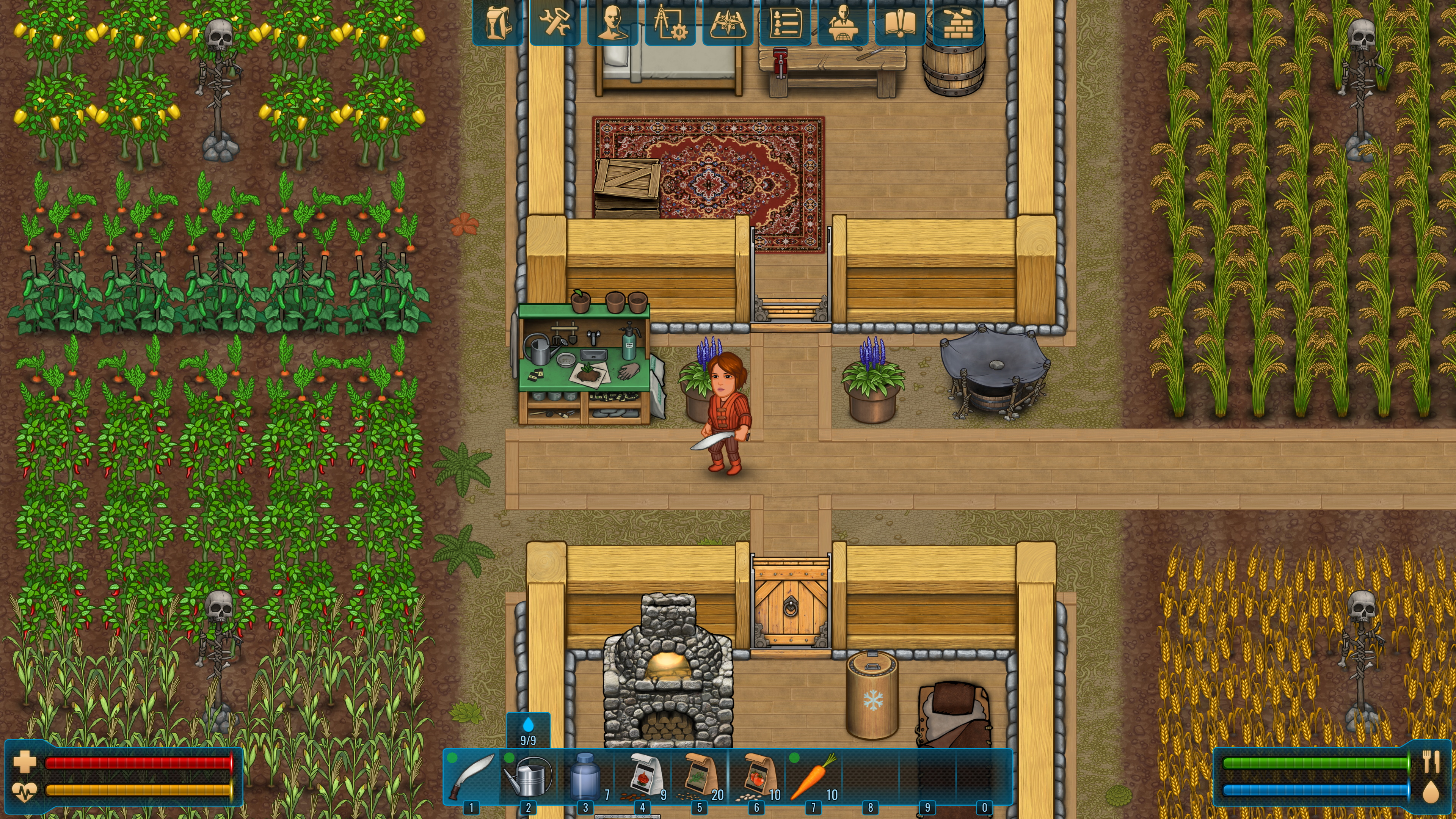 Farming and base building